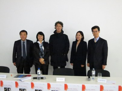 L to R: Kwon Se-hoon (LTI Korea, Ch'oe Yun, Jung Young-moon, Grace Koh, Kim Kab-su (KCC director)