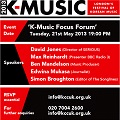 Thumbnail for post: K-music focus forum at the KCC