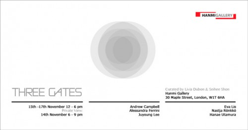 Featured image for post: Three Gates – a brief group exhibition at Hanmi Gallery