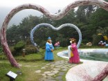 Tiger and Bear enjoy domestic bliss in the part of the Korean Medicine Theme Park signifying the heart