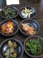 Side dishes including ginseng kimchi