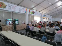 Inside the food tent