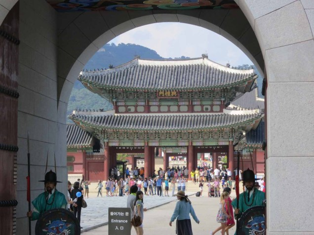Part of the Gyeongbokgung, seen through Gwanghwamun