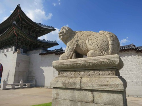 One of the Haecha outside Gwanghwamun