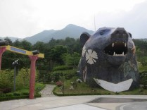 The bear at the top of the Korean Medicine Theme Park