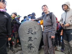 Everyone got a chance to have their photo taken at the summit marker