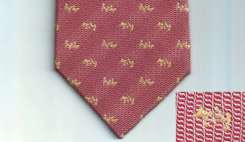 A tie designed for Sancheong County