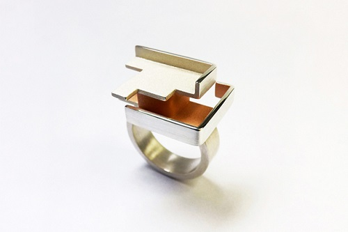 Ring from Hee Young Kim's 2013 collection entitled A constructed way