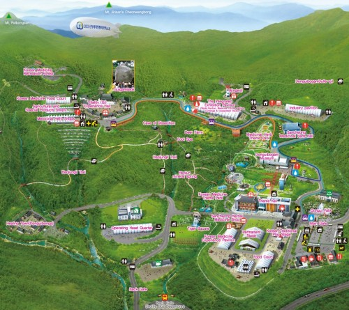 Map of the Sancheong World Traditional Medicine Fair and Festival
