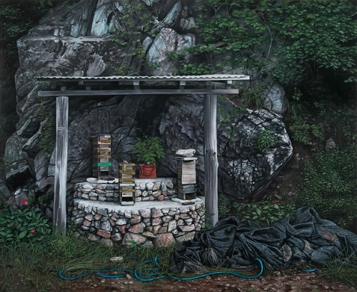 John Stark: The Garden (2013), oil on panel, 50 x 60 cm