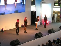 2NE1 seen from the upper level of the fish market