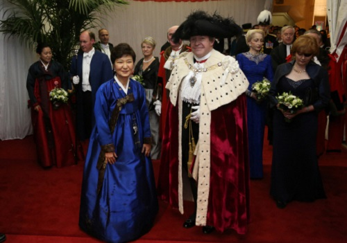 President Park with the Lord Mayor
