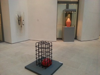 Installation view of Shin Meekyoung's vase in the Wallace Collection