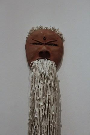 Jukhee Kwon: Fluxus (Clay Mask), 2013. Paper and found objects