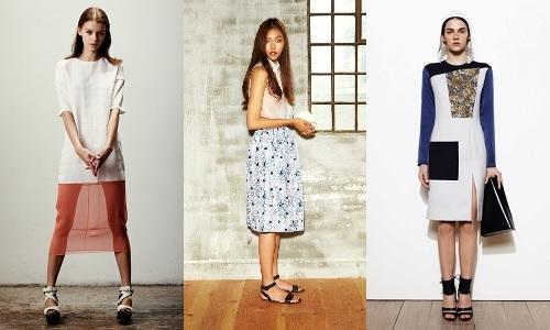 L to R: designs by J. JS Lee, Rejina Pyo, Eudon Choi