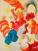 Heena Kim, Balloon Marshmallow, 46cm x 65cm, oil and acrylic on canvas, 2013