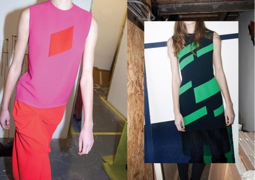 Bold colours and shapes in Rejina Pyo's AW14