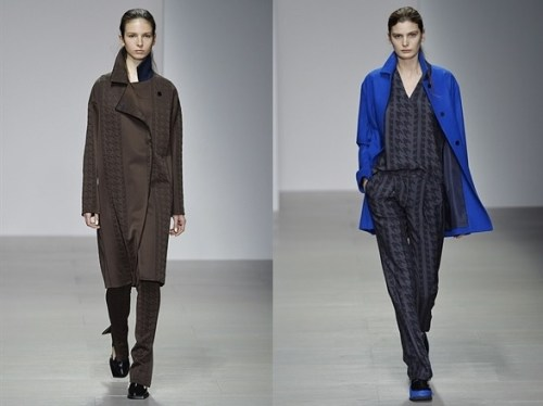 Tyre tracks and houndstooth - from J. JS Lee's AW14 collection