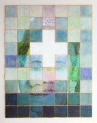 Jungu Yoon, Chun (天) , 84.5x108.5cm, mixed media on Korean paper, 2012