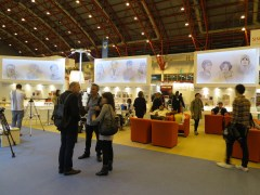 LBF - The 10 authors look over the Korean Pavilion at the London Book Fair