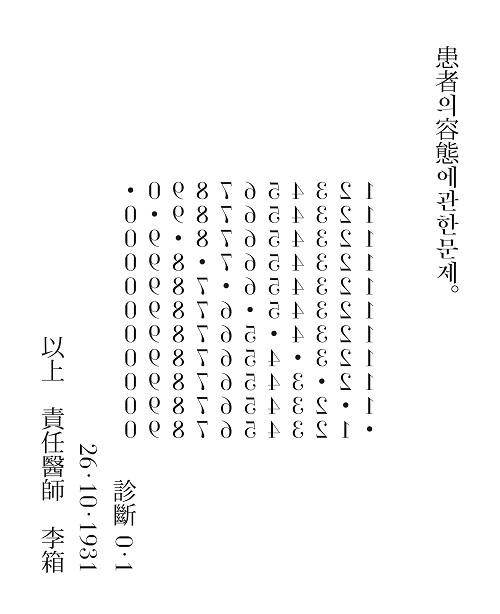 Yi Sang, Crow's Eye View, Poem No. 4, 1934