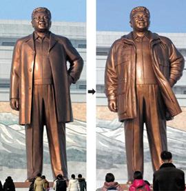 Kim Jong Il before and after