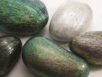 Mother-of-pearl covered rocks by Hwang Sam-yong (photo: KCDF)