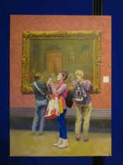 Kim Hun: Inside the National Gallery (2014). Oil painting at the DPRK Embassy, London