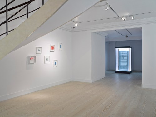 Suh Do-ho's work installed at Gazelli Art House (courtesy of the artist and gallery)