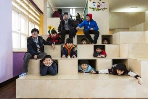IAEO Archtecten: Unsan Elementary School, Seosan, Chungcheongnamdo. 2013  (Photo: Jeonghoon Park)