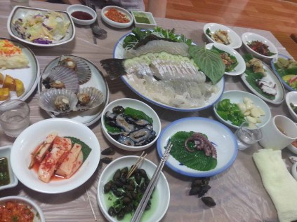 A light supper in Sancheong town