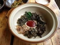 Vegetarian bibimbap - before mixing in the rice
