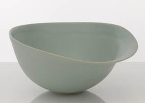 Hyejeong Kim - Flared bowl SIze: D=16, W=18, H=12 (cm) Methods: wheel-thrown stoneware Glaze: HK matte blue