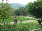 The lotus pond in the Hee Won's Main Garden