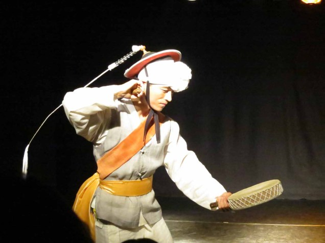 Nongak performers from Jeollado in a Daehakro theatre