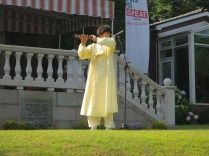 A daegeum solo starts the traditional performances