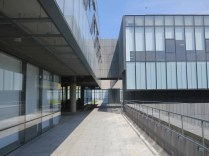 The modern parts of the museum campus have clean lines and reflect the light beautifully