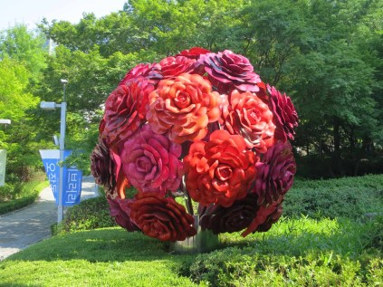 A flower tree by Choi Jeong-hwa