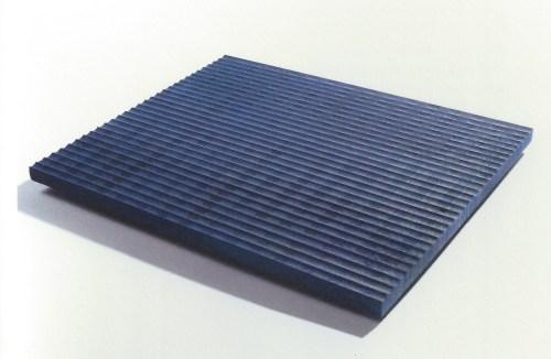 Cho Yong-won: Tea Tray - blue. Ash, 3.5 x 53 x 45.5 cm