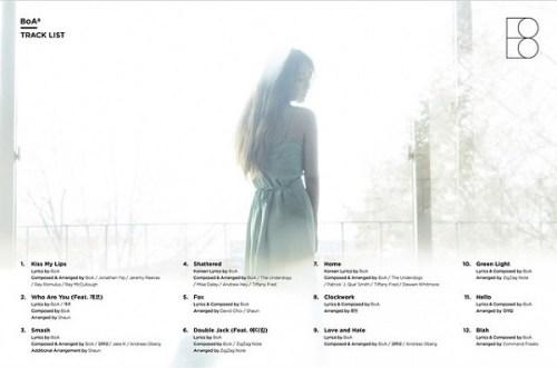 BoA 8 tracklist