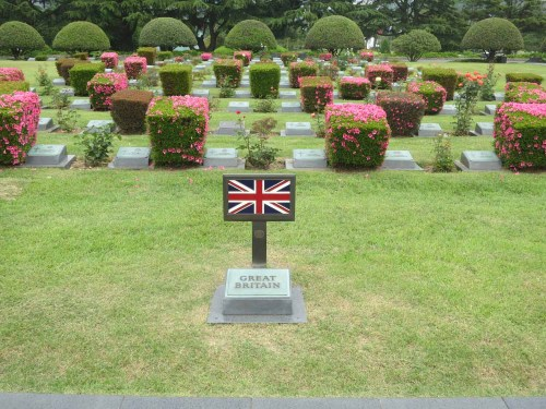 The UK section of the cemetery