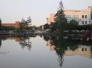 The campus of Gangneung-Wonju National University