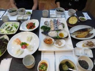 Sashimi at a beachfront restaurant in Gangneung