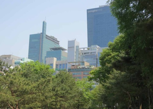 The view from King Jungjong's tomb