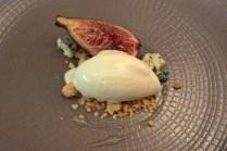 English fig, blue cheese ice-cream, ginseng honey