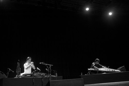 SU:M on stage at the Purcell Room