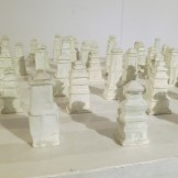 Pagodas in deombeong buncheong pottery by Park Sung-wook