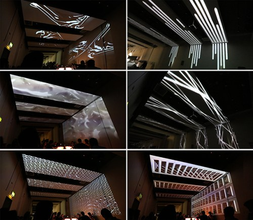 Transfiguring Night, projection mapping installation,