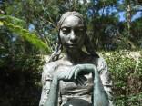 In the QAG's cafe / sculpture garden