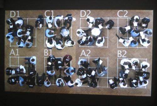 A shot of the work-in-progress footage of Maths Test - Junebum Park's 2016 Tonbridge School project